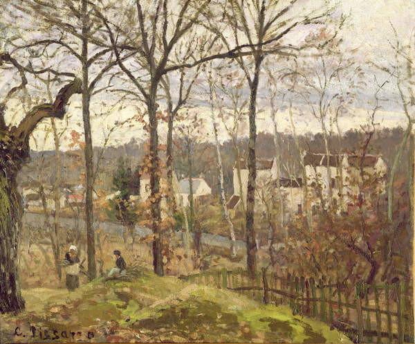 Fine Art Print Winter Landscape at Louveciennes, c.1870