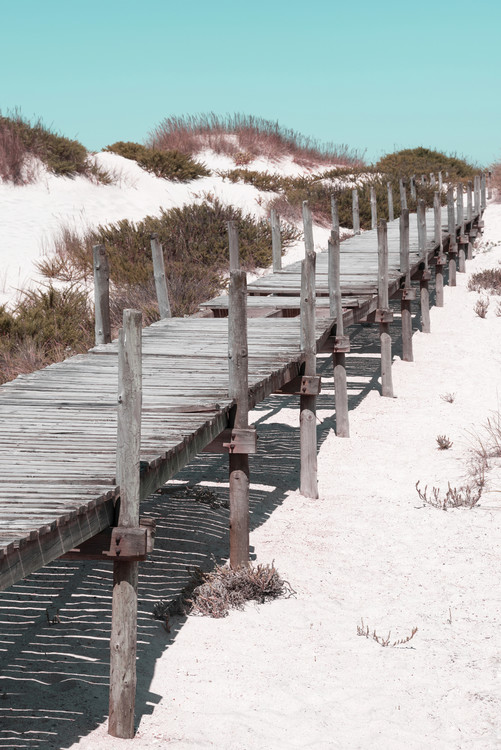 Art Photography Wooden Pier on the Beach