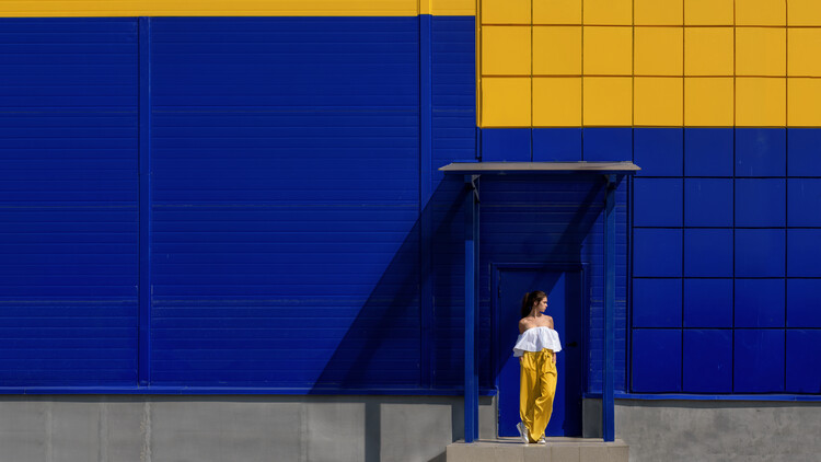 Art Photography Yellow and blue