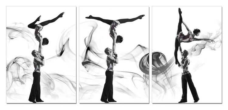 Arte moderna A couple of acrobatic dancers