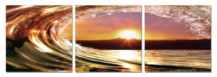 Arte moderna Falling tide - Sunset