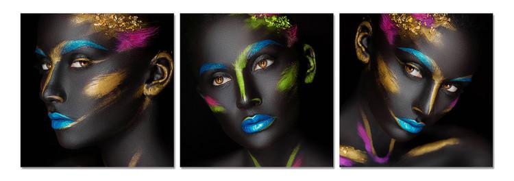 Arte moderna Fluorescent portrait of a woman