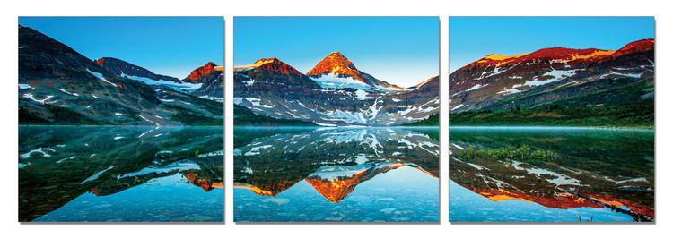 Arte moderna Mountains - Sunset over the Mountains
