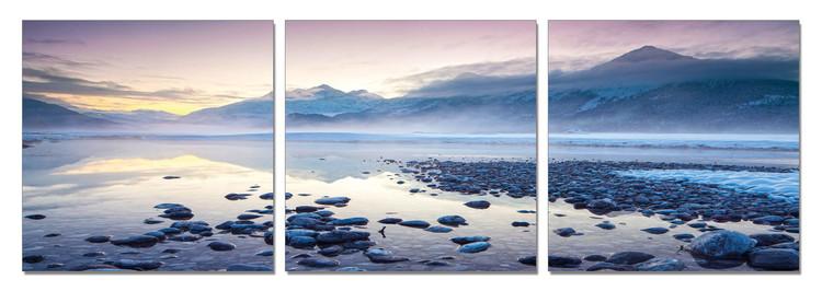 Arte moderna Mountains - Winter Lake