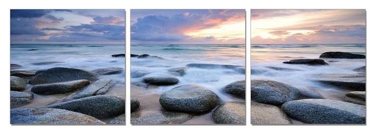 Arte moderna Rocks on a beach