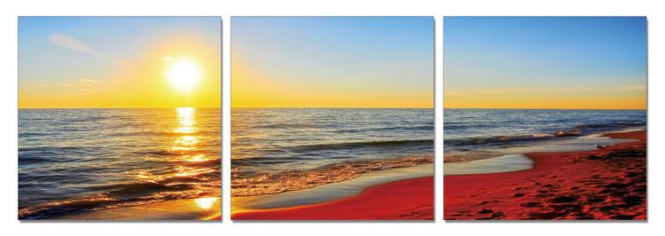 Arte moderna Sunset on the beach
