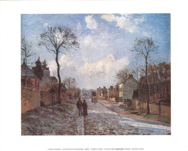 Impressão artística A Road in Louveciennes