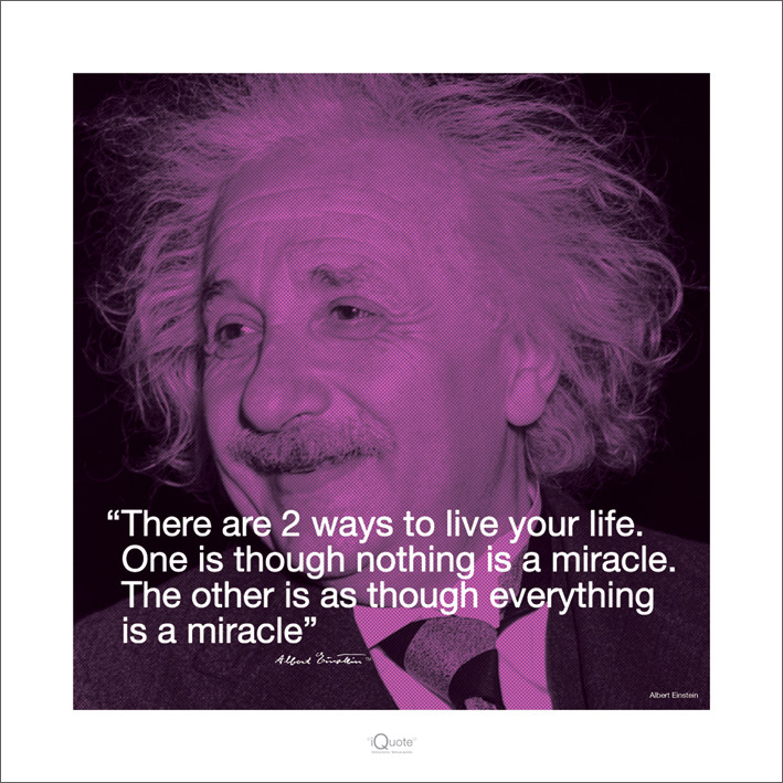 Impressão artística Albert Einstein - Iquote