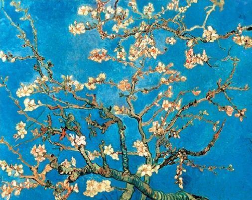 Impressão artística  Almond Blossom - The Blossoming Almond Tree, 1890