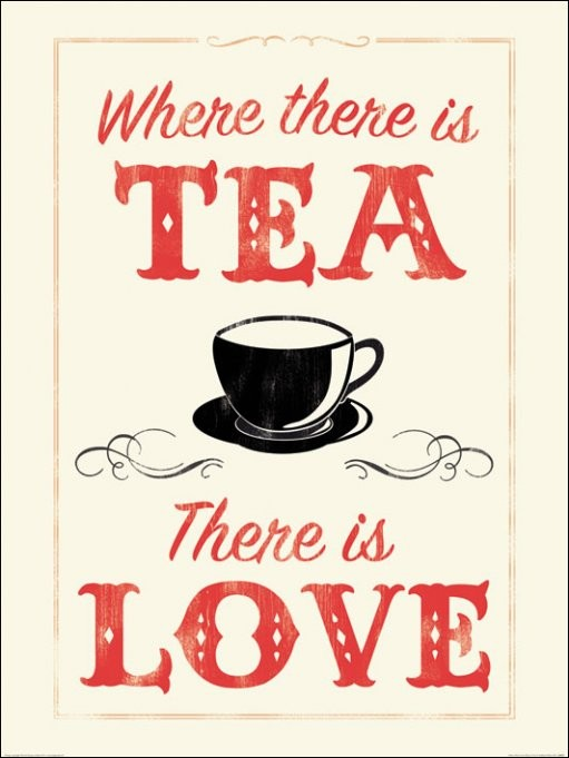 Impressão artística Anthony Peters - Where There is Tea There is Love
