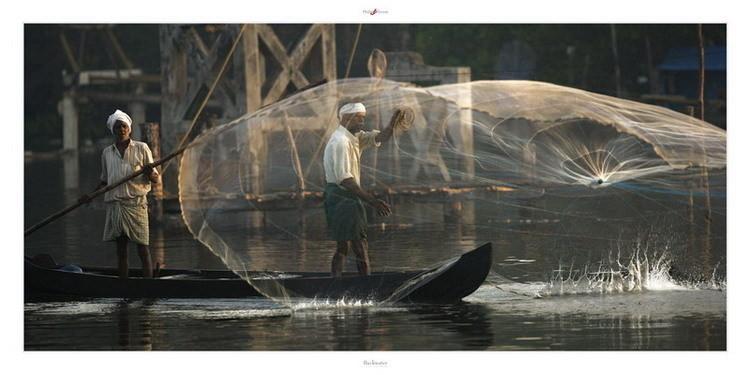 Impressão artística Backwater - Kerala