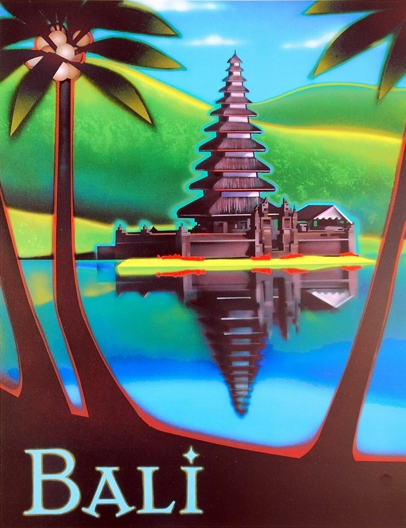 Impressão artística Bali