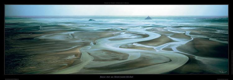 Impressão artística Basse mer au Mont Saint-Michel