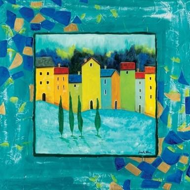 Impressão artística Blue Magenta