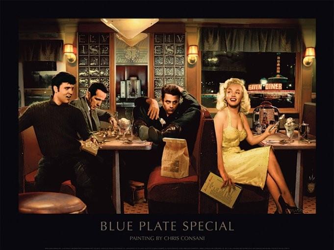 Impressão artística Blue Plate Special - Chris Consani