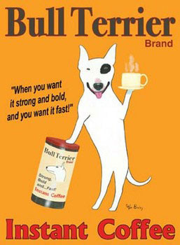 Impressão artística Bull Terrier Brand