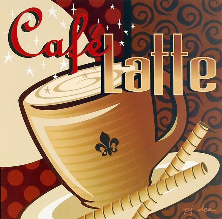 Impressão artística Cafe Latte