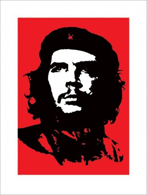 Impressão artística Che Guevara - Red