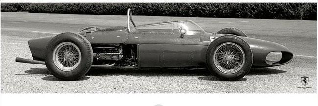 Impressão artística Ferrari F1 Vintage - Sharknose