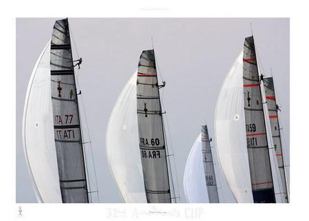 Impressão artística Fleet racing - 32nd America's Cup