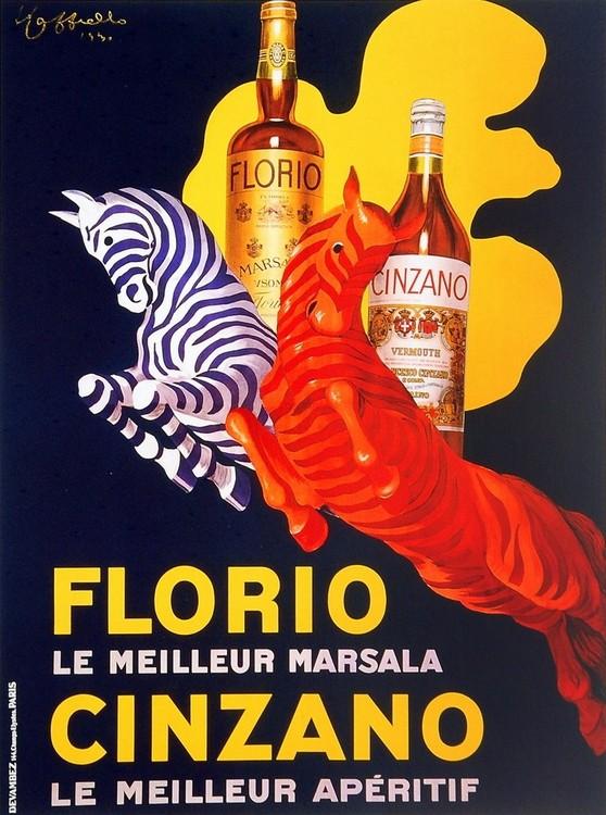 Impressão artística Florio e Cinzano 1930