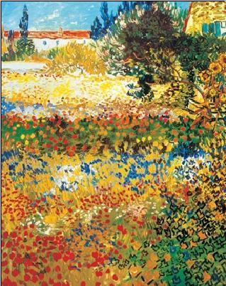 Impressão artística Flowering garden, 1898