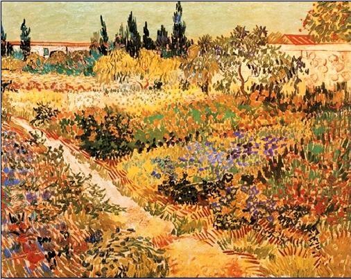Impressão artística Flowering Garden with Path, 1888