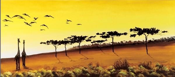 Impressão artística Giraffes, Africa