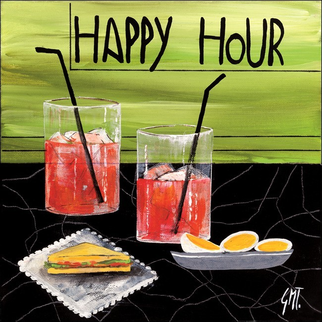 Impressão artística Happy Hour