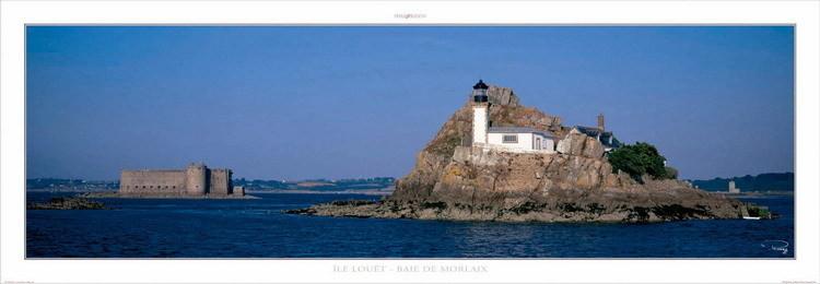 Impressão artística Ile Louët - Baie de Morlaix