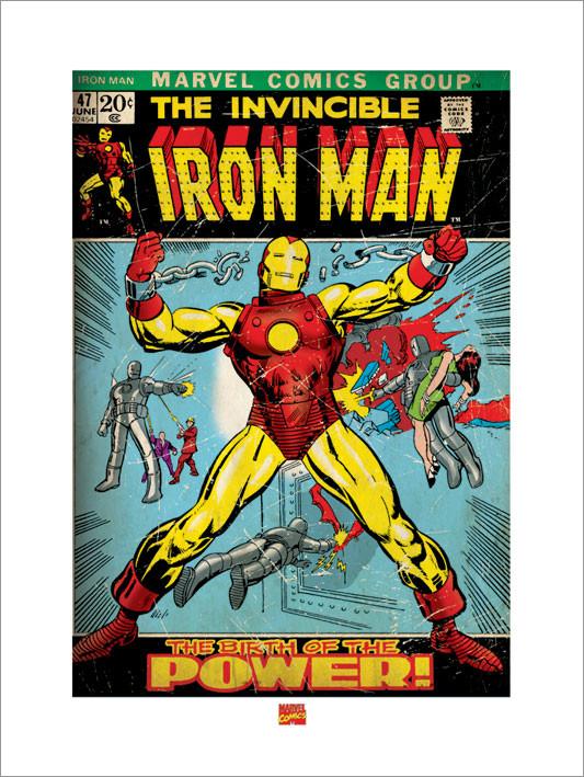 Impressão artística Iron Man