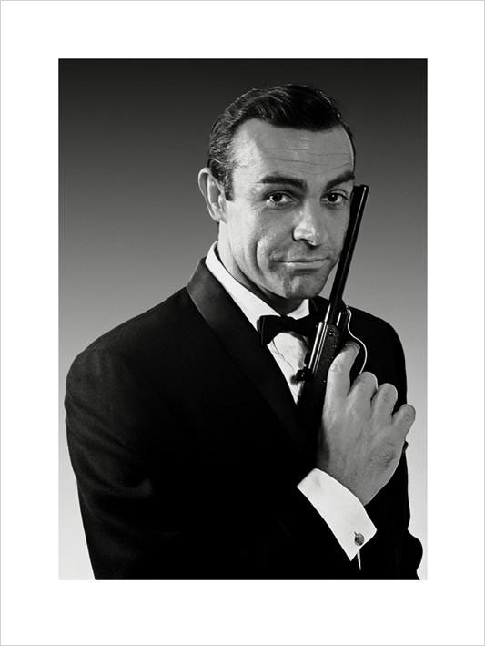 Impressão artística James Bond 007 - Connery