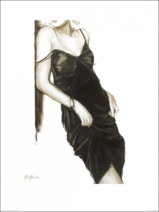 Impressão artística Janel Eleftherakis - Little Black Dress I