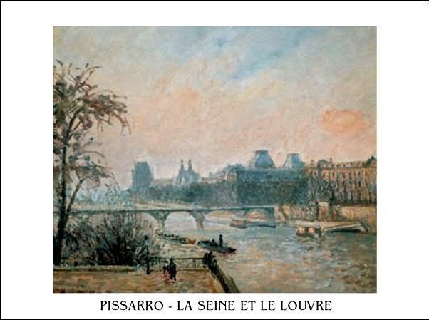 Impressão artística La Seine et le Louvre - The Seine and the Louvre, 1903
