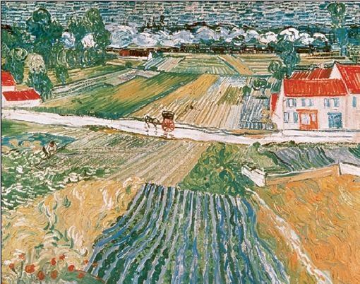 Impressão artística Landscape at Auvers after the Rain, 1890 (part.)