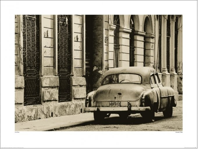 Impressão artística Lee Frost - Vintage Car, Havana, Cuba