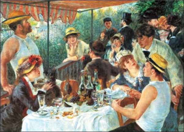 Impressão artística Luncheon of the Boating Party, 1880-81