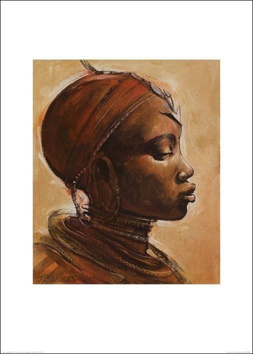 Impressão artística Masai woman I.