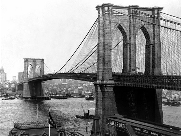 Impressão artística New York - Brooklyn bridge
