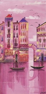 Impressão artística Pink Venice