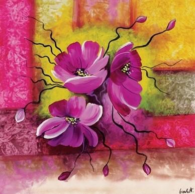 Impressão artística Purple Dahlias