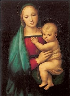 Impressão artística Raphael Sanzio - The Madonna del Granduca, 1505