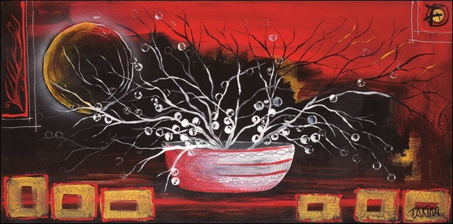 Impressão artística Rosso oriente