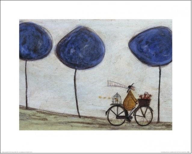 Impressão artística Sam Toft - Freewheelin' with Joyce Greenfields and the Felix 3