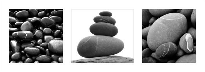 Impressão artística Stones Triptych