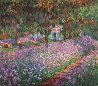 Impressão artística The Artist's Garden at Giverny, 1900