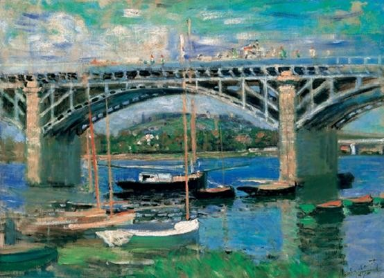 Impressão artística The Bridge at Argenteuil, 1874