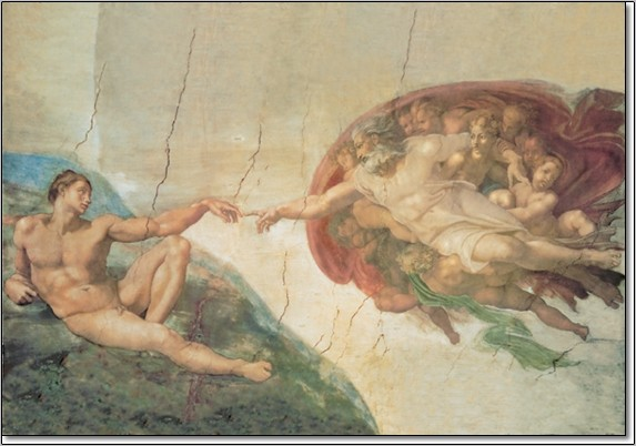 Impressão artística The Creation of Adam