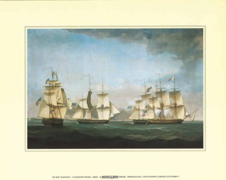 Impressão artística The Ship Shannon