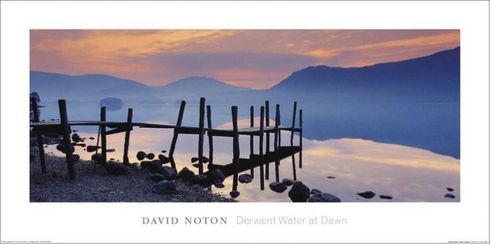 Impressão artística Wooden Landing Jetty - David Noton, Cumbria